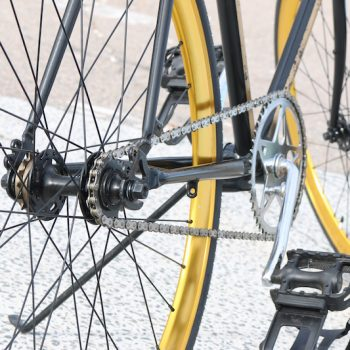 Yellow bicycles and gears