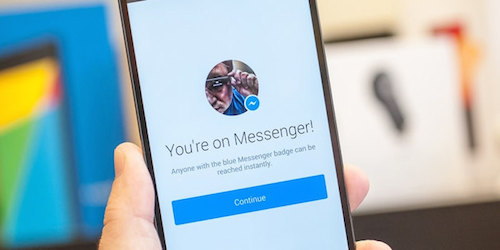 Facebook messenger app for brands and people alike.
