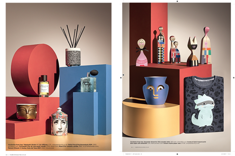 final set for magazine cover luxury design