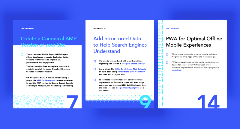 Sneak Peek of Bookmark's SEO Checklist