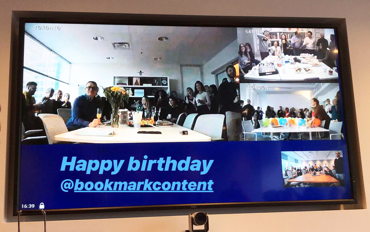 bookmark 2 year anniversary video conference between offices