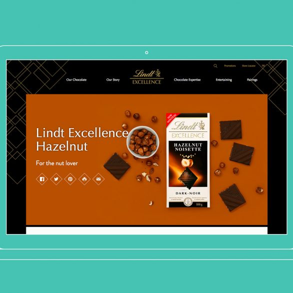 lindt excellence content strategy case study by bookmark