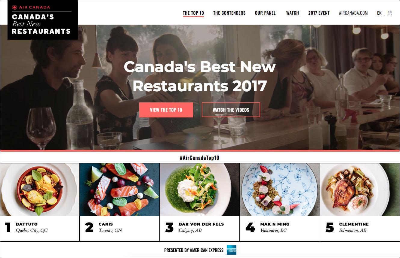 air canada enroute magazine canada best new restaurants 2017 website