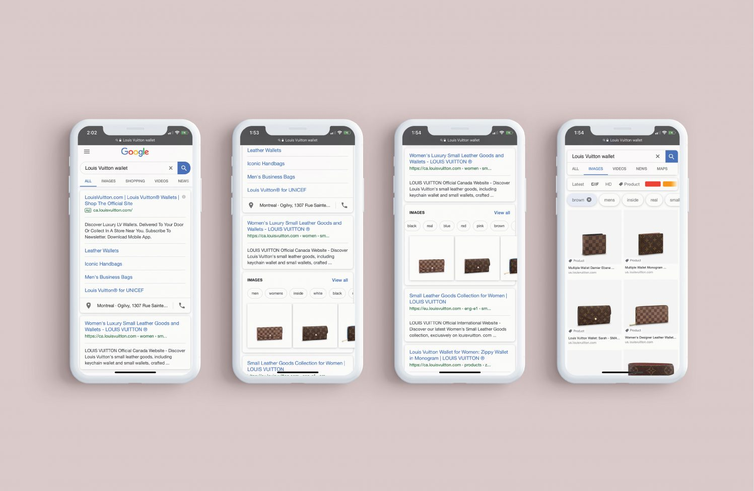 Google branded search and image results