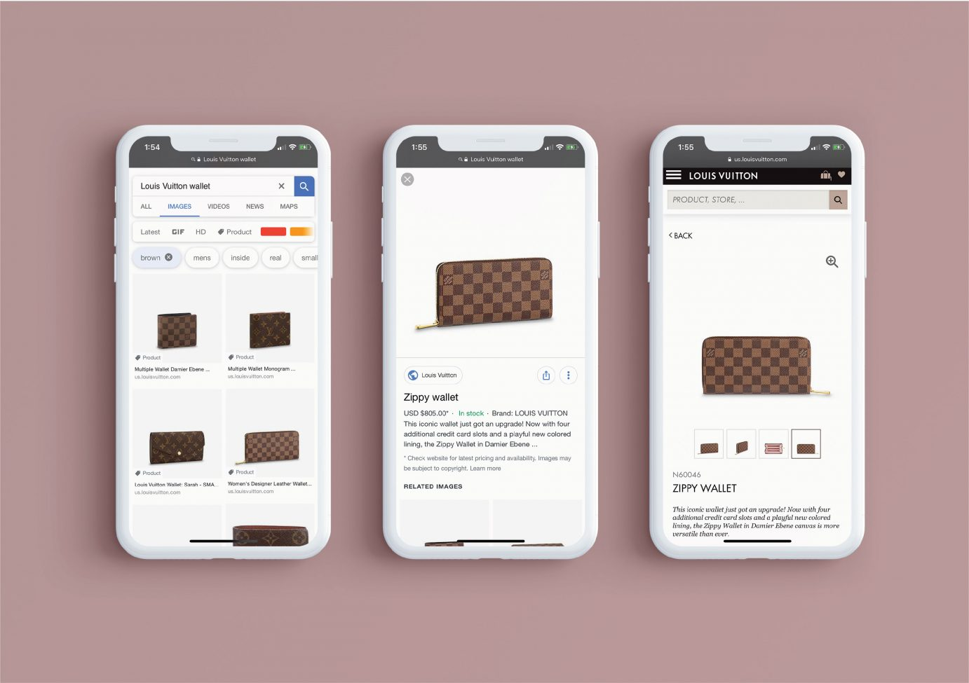 Google image search and Google product page