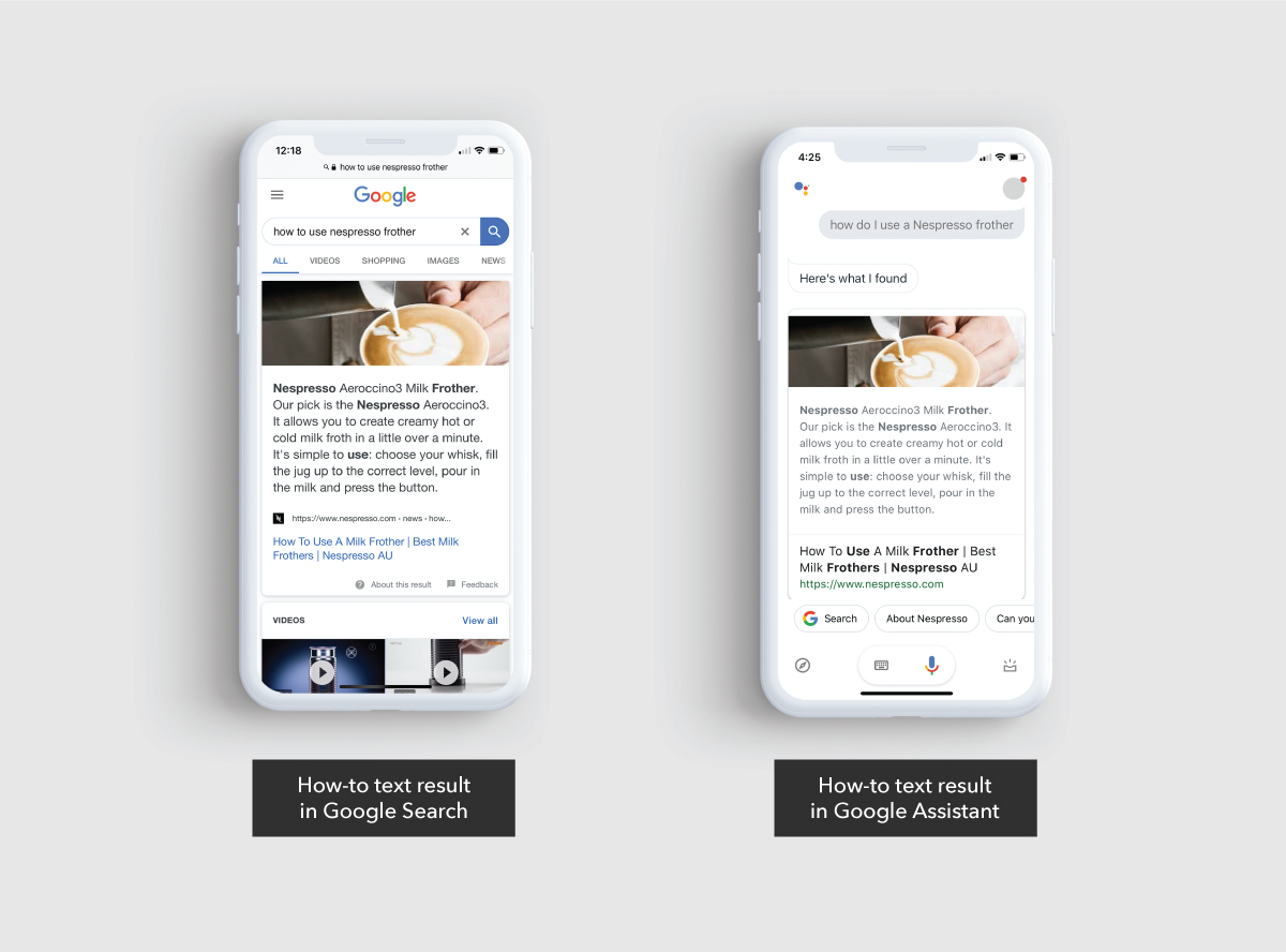 How-to results in Google Search and Google Assistant