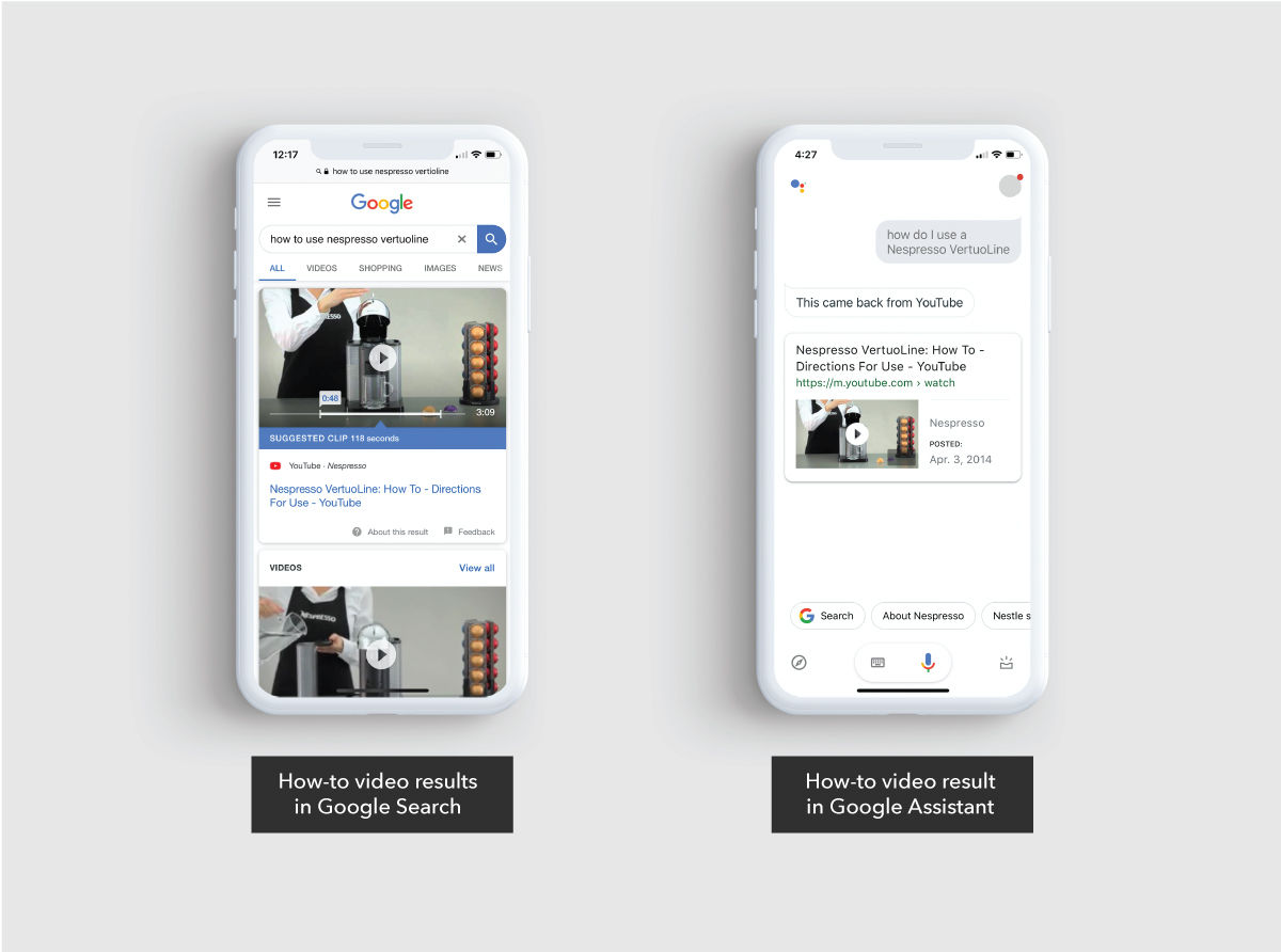 How-to video results in Google Search and Google Assistant