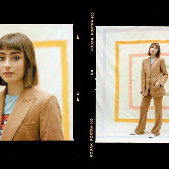ellise chappell photoshoot fabric magazine