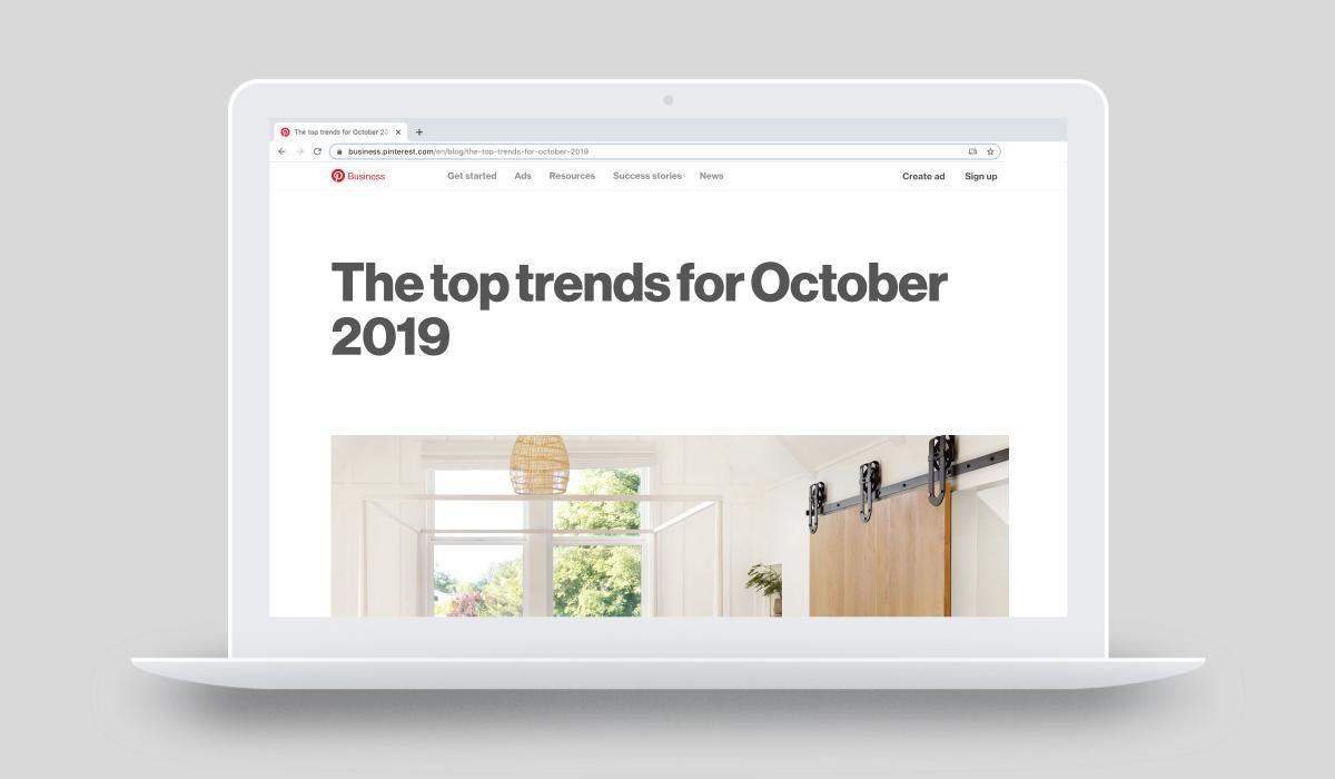 Pinterest trend report October 2019