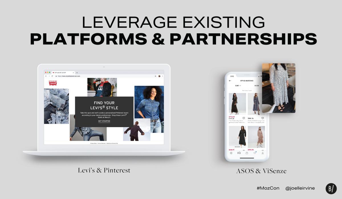 Visual search technology partnerships