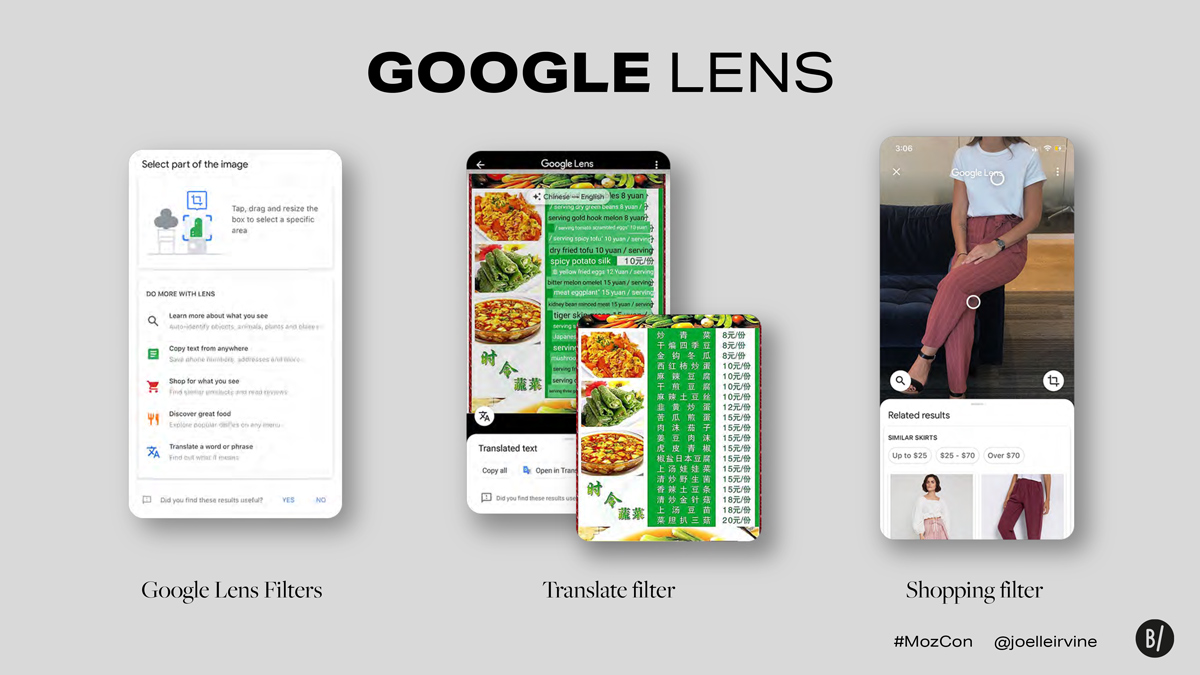 Google Lens filters