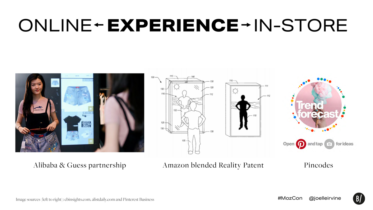 Visual search in-store experience