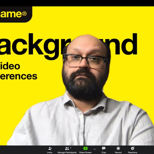 Video conferencing no name background