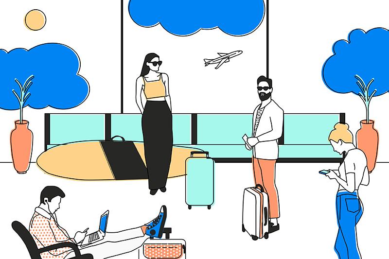 Millennials travel leisure work job infographic