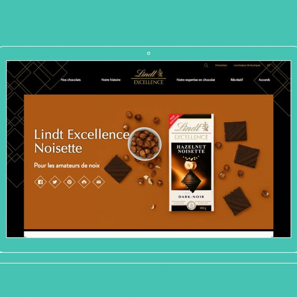lindt excellence strategie de contenu ecommerce